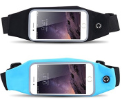 14cm Running Belt Waist Pack Reflective Strip Workout Belt Pouch Waist Bag Exercise Band for iphone6/6s/6splus/7//7plus Huawei LG for Running Travel Hiking