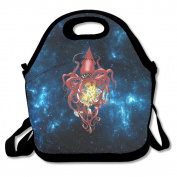 A Giant Squid Red Cool Large & Thick Insulated Tote LunchCarryBag Zipper Lunch Bag For Men Women Kids Art Of Lunch
