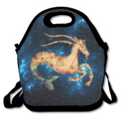 Capricorn Zodiac Sign Large & Thick Insulated Tote Lunchbag Utensils Lunch Bag For Men Women Kids Art Of Lunch