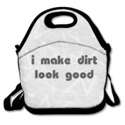 QIFAN Lunch Bags I Make Dirt Look Good Diagonal Bags Picnic Bags Fast Food Packaging For Teen