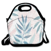 QIFAN Pastel Leaves Customised Bag Lunch Bags Bags Travelling Bag Picnic Bag Storage Bag Backpack For Children Diagonal Bag Handbag