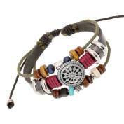 Usstore Women Lady Bohemia Wind Beaded Multilayer Hand Woven Bracelet Jewellery