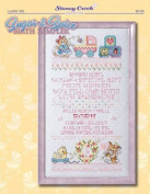 Sugar & Spice Birth Sampler Cross Stitch Chart and Free Embellishment