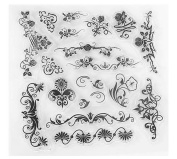 Hestio Floral Plants Silicone Stamp Seal DIY Scrapbooking Album Paper Cards