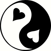 STCF Heart Yin Yang Rubber Stamps wood stamps rubber Stamps rubber-stamp
