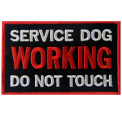 Service Dog Working Do Not Touch Vests/ Harnesses Emblem Embroidered Fastener Hook & Loop Patch