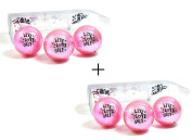 Pink Metallic Golf Balls with Live Love Golf Imprint Combo