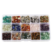 15 Assorted Chips Stone Crushed Chunked Crystal Pieces Irregular Shaped Loose Beads in bulk