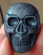 """1 Pcs 1.4"""" Hand Carved Natural Gemstone Skull Head Jewllery Pendant ,DIY Accessory for Necklace 34mm"""