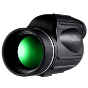 HUTACT Monocular Telescope, 13X50 optical lens, multiple-layered coating providing clear view and a distance measuring scale for distance and altitude measurements.