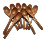 WD-Thai Natural Eco-friendly not latex Red Wood Small Spoons Sugar Seasoning Salt Spoons for utensil home kitchen and coffee Set of 10pcs x 10cm