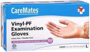 CareMates Vinyl-PF Examination Gloves Large - 100 ct, Pack of 2