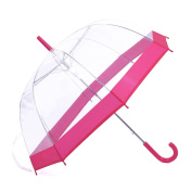 Rainbrace Clear Bubble Umbrella Auto Open Upgraded Version With Reinforced Fibergrass Ribs, Transparent Clear Umbrella Dome Shape for Women And Kids