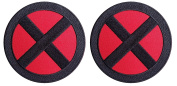 Set of 2 X-men Storm Red-Black Jacket Costume Cosplay Patches