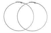 Fashion Gigantic Hoop 1.5-mm Thick 13cm Round Earring Pair