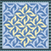 Quilt Kit Christmas Snowflakes /EXPEDITED SHIPPING