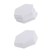 Jili Online 200 Pieces Hexagon Shape Paper Quilting Template English Paper Piecing for Patchwork4.2cm+7.9cm