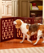 Sherri's Home and Garden Geometric Wooden Pet Gate