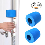 Finger Pinch Guard (2 pk) Door Finger Safety Guard Bumper Stop for Baby, Prevent Child Finger Pinch Injuries, Stop Door From Slamming and Child & Pets from Accidentally Getting Locked in Room