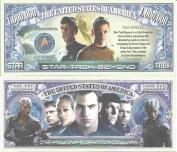 Novelty Dollar Star Trek Beyond Federation Million Dollar Bills x 4 Captain Kirk Spock Sci Fi
