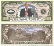 Novelty Dollar Donald Trump President Of The United States Million Dollar Bills x 4 Legacy