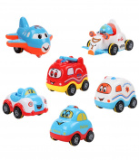 JOKHOO Children Cartoon Pull Back Car,Toys Pull Back Truck and Car Toys for Boys Kids Toddler Party Favours Applicable above . old