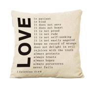 Cushion Cover,kaifongfu Square Pillow Cover Cushion Case Toss Pillowcase Hidden Zipper Closure