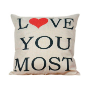 Cushion Cover,kaifongfu Square Pillow Cover Cushion Case Toss Pillowcase Hidden Zipper Closure