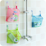 Baby Shower Bag, Essort Bath Toy Organiser Mesh Net Toy Storage Bag For Baby Boys Girls With Two Suction Cups, Portable Mesh Shower Caddies Tote, Toiletry and Bathroom Organiser Green