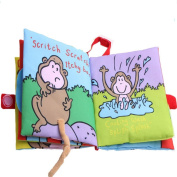 Vibola Animals Monkey Cloth Book Baby Education Toys Learning Picture Cognize Cloth Book