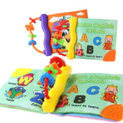 Vibola Infant Baby Kid Child intelligence development Sound Soft Cloth Book Cognize Book Funny Toy 1pcs