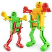 Putars Cute Clockwork Wind Up Dancing Robot Toy for Baby Kids Developmental Gift Puzzle Toys