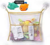 Chickwin Kids Or Baby Bath Toy Organiser, Toddlers Large Toy Storage Bag 2 Heavy Duty Lock Suction Cups Baby Bath Toy Mesh Net Storage Bag Organiser Holder