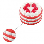 Refaxi 12CM Squeeze Squishy Scent Strawberry Cake Super Slow Rising Toy Fun Pinch Gift