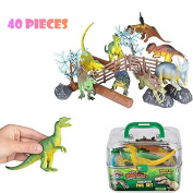 Adventure Planet Dinosaur Set with Carrying Case,2 Pack of 20-Piece