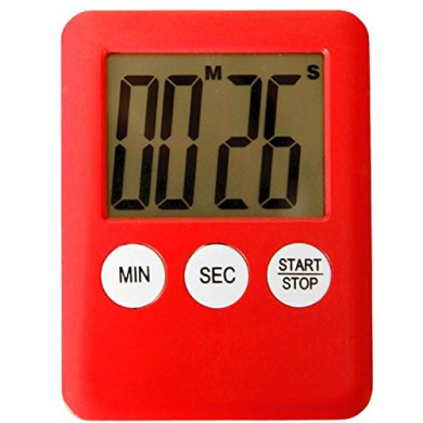 Electronic kitchen timer magnetic Ultra thin red