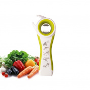 UPXIANG 5 in 1 Multifunction Manual Tin Opener, Bottles Jars Tool Gadget, Non-slip Can Opener Handle