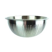 Saveur et Degustation kb5785 Stainless Steel Colander, Brushed Stainless Steel 27 x 11, 50 cm,