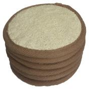 6 pcs/set 10cm ×10cm Natural Exfoliating Face Pad Loofah Sponge Facial Brush - Shower Scrubber - Body Bath Spa For Men & Women , Renewable Resource (Front 100% Loofah + Back 100% Cotton Terry) Pack of 6