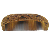 FANTAC CRAFTS Green Sandalwood Hair Comb Wooden Antistatic Aromatic Carving Gift Carving Palo Santo