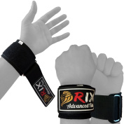 Rix Power Weight Lifting Padded Wrist Brace Wraps Grip Support Gloves Gym Straps
