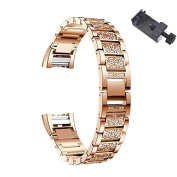 Charge 2 Adjustable Metal Strap Replacement with A Tool,Chofit Luxury Bracelet with Rhinestone for Fitbit Charge 2