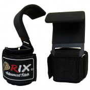 Rix Power Weight Lifting Training Gym Straps Hook Bar Wrist Support Lift Gloves