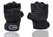 CLW Fitness Weight Lifting Gloves With Premium Wrist Support & Super Padded Grip For Weight Training, Fitness & Exercise – Prevent Calluses With Breathable Gym Workout Hand Gloves - Men & Women