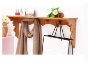 Wall hanging coat rack Wall Coat Racks, with Shelf Wall Mounted Storage for Clothes, Towel, Hats, Scarves,Display Shelves coat rack with shelf