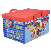 Paw Patrol Kids 2 in 1 Toy & Games Storage Box Chest with Playmat