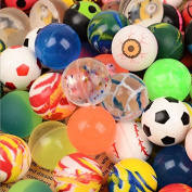 ULOOIE 100 Pcs Mixed Colour Bouncy Balls Jet Balls Kids Birthday Papty Creative Gifts Toy