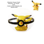 Pikachu Plush Pokeball Pokemon XY PLUSH SET with 3D Large Beach Ball Sand Toys USA Seller Ships Fast Charizard Eevie
