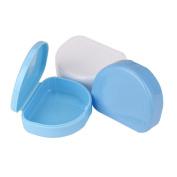Sothread 1PC Denture Bath Appliance Rinsing Basket False Teeth Box Storage Case