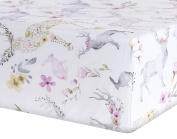Oilo Fawn Jersey Crib Sheet, Blush